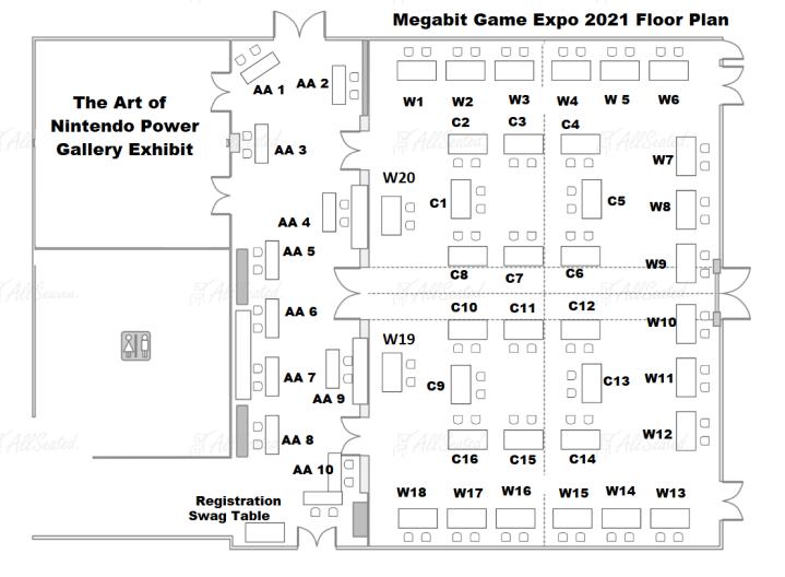 Megabit Game Expo Floor Plan 2021
